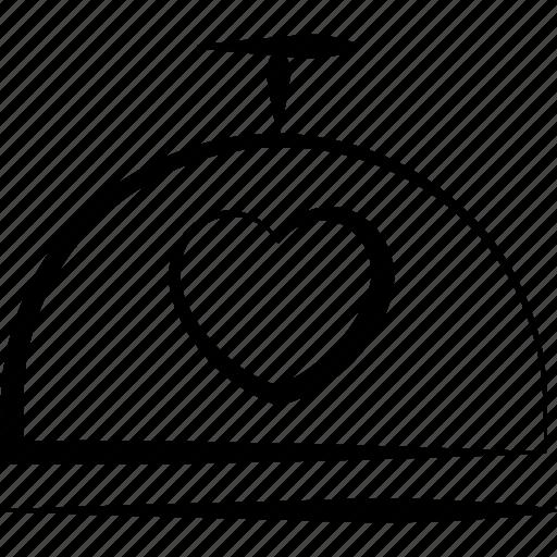 dish, food, heart, love, restaurant icon