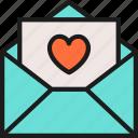 celebration, day, heart, letter, love, romantic, valentine icon
