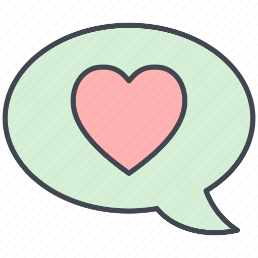 chat, dialogue, love, love message, lovely, valentine, valentine's day icon