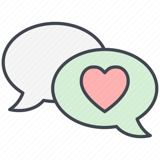 chat, dialogue, love, love chat, love message, lovely, valentine's day icon