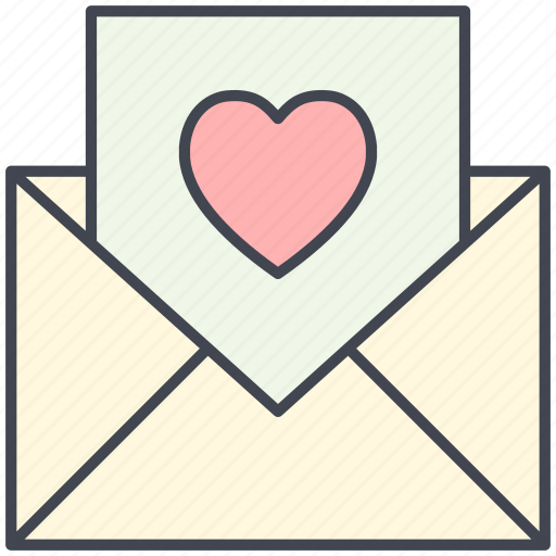 feelings, love, love letter, love message, lovely, valentine, valentine's day icon