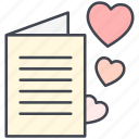 love, love letter, love message, lovely, valentine, valentine's day icon