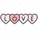 hearts, love, love hearts, lovely, valentine, valentine's day icon