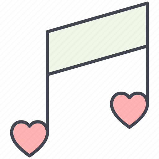 love, love song, lovely, music, note, valentine, valentine's day icon