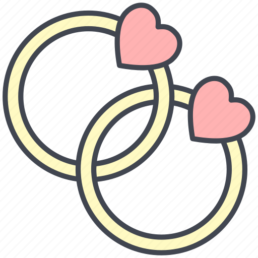 love, lovely, marriage, rings, valentine, valentine's day, wedding icon