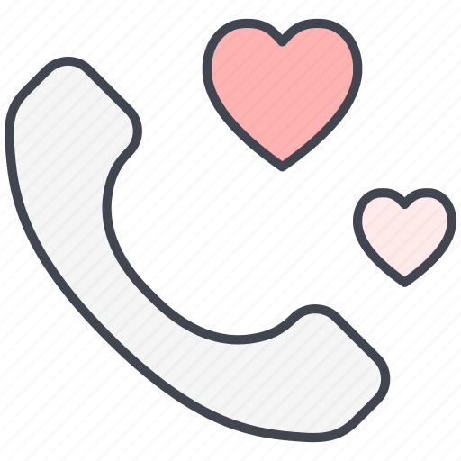 contact, love, love message, lovely, telephone, valentine, valentine's day icon