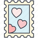 hearts, letter, love, lovely, post stamp, valentine, valentine's day