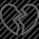 broken, celebration, day, heart, love, romance, valentine icon