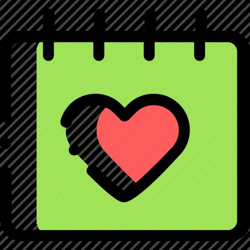 calendar, date, heart, invitation, love icon