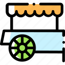 candy, candycart, cart, sweet icon