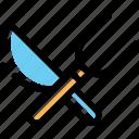 food, fork, knief, knieffork icon