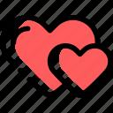 heart, hearts, love, true love, two, twohearts