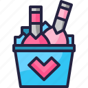 champagne, drink, heart, lover, party, valentine icon