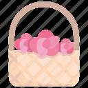 basket, beautiful, bouquet, decoration, floral, flower, rose icon