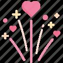anniversary, celebration, festival, firework, heart, love, wedding icon