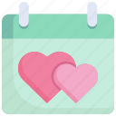 calendar, date, event, heart, holiday, love, reminder icon