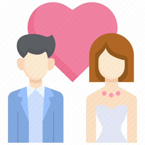 bride, couple, female, love, male, marriage, wedding icon