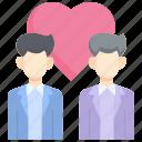 bride, couple, lgbt, love, male, marriage, wedding icon