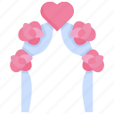 bouquet, decoration, flower, frame, romantic, rose, wedding icon
