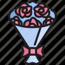 blossom, bouquet, celebration, decoration, floral, flower, rose icon