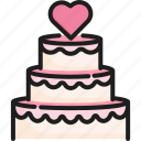 cake, celebration, dessert, food, marriage, sweet, wedding icon