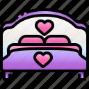 bed, honeymoon, bedroom, love, romance