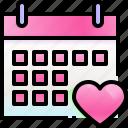 calendar, wedding, day, heart, date, love