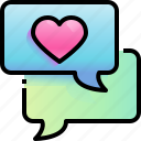 chat, love, heart, conversation, messages