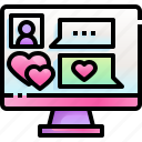 chat, love, message, computer, dating, app