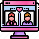 couple, user, computer, love, dating, app, browser