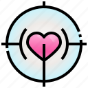 hearts, romantic, like, love, target