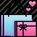 shopping, bag, love, romance, valentines, day