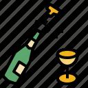champagne, drink, alcohol, party, celebrate, beverage, bottle
