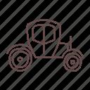 brougham, car, carriage, chauffeur, old school, vintage, wagon icon