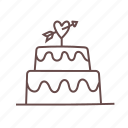 birthday, cake, celebration, engagement, food, party, wedding icon