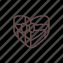 anniversary, gift, gift box, heart, love, present, romantic icon