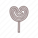 candy, confectionary, lollipop, love, sugar, sweet, sweets icon