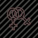 female, same sex, sign, symbol, symbolism, venus, women icon