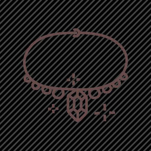 accessories, diamond, fashion, jewel, jewelry, necklace, pendant icon