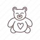 bear, play, teddy, toy icon