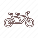 bicycle, bike, biking, couple, cycling, exercise, sports icon