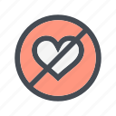 love, no, romance icon