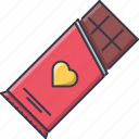 chocolate, day, love, relationship, valentine icon