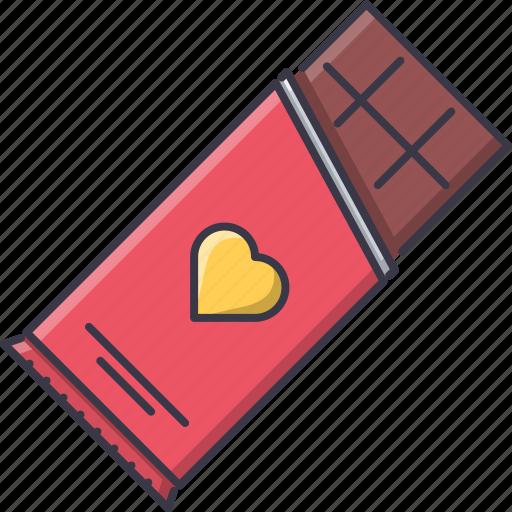 chocolate, day, love, relationship, valentine icon