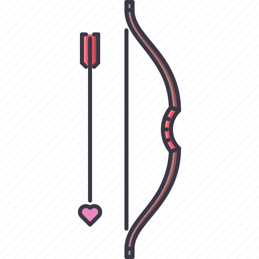 arrow, bow, cupid, day, love, relationship, valentine icon
