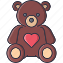 bear, day, love, relationship, teddy, valentine icon