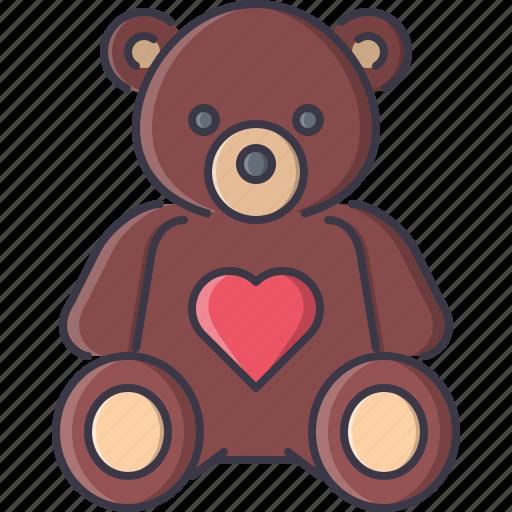 bear, day, love, relationship, teddy, valentine icon