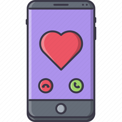 call, day, heart, love, phone, relationship, valentine icon