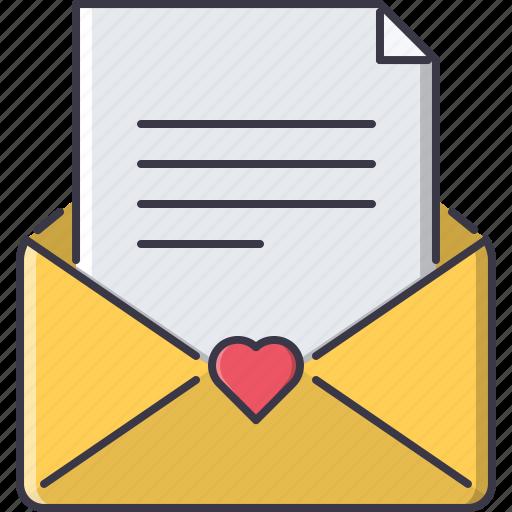 day, envelope, letter, love, relationship, valentine icon