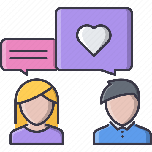 day, heart, love, people, relationship, talk, valentine icon